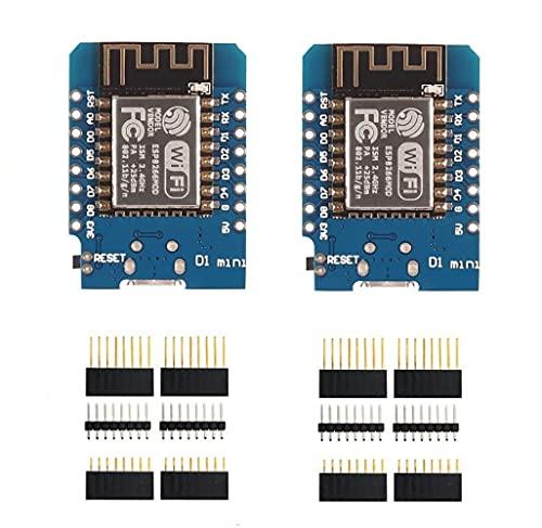 SP-Cow Placa de Desarrollo ESP8266 ESP-12F 4M Bytes WLAN WiFi,Placa de Desarrollo de Internet Compatible con Arduino (Paquete de 2)