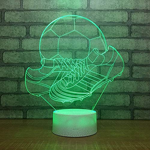 Tatapai 3D noche luz deportes zapatos luz niños s noche luz 16 variaciones de color control remoto interruptor táctil carga USB regalo de cumpleaños para niños niños bebés