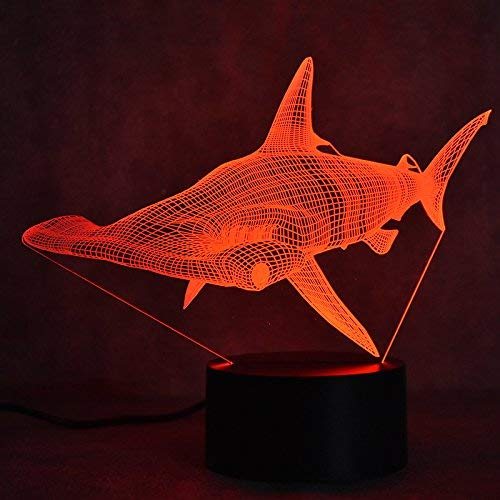 7 colores peces 3D luz led pesca 3D luz nocturna botón táctil altavoz bluetooth lámpara de escritorio regalo increíble