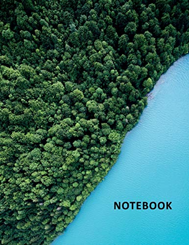 College Ruled Notebook: Blue lake Beautiful Student Composition Book Daily Journal Diary Notepad for researching entry level uav pilot jobs