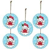 Richo 2020 Adornos de Navidad Decoración del árbol Colgante Santa con una máscara facial DIY Colgantes de Navidad para vacaciones Boda Fiesta Decoración Árbol Ornamentos