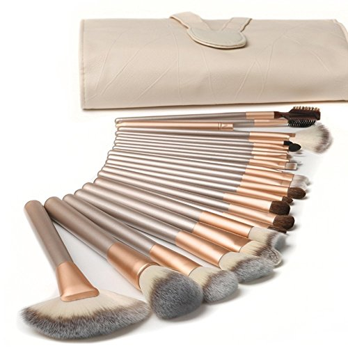 Nestlingâ 18 Stück Professionelle Kosmetik Make-Up Pinsel Werkzeuge Kosmetik Make-Up-Pinsel-Set Mit Roll Up Pu-Leder Tasche, Holzgriff