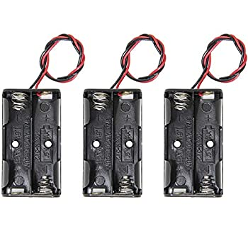 AA Battery Holder 3PCS RFAdapter 1.5V 2 AA Battery Holder 2 Cell with Wire Leads Replacement