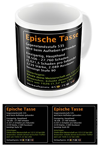 empireposter Episch - Epische Tasse - Keramik Tasse - Größe Ø8,5 H9,5 cm