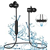 SP604 Bluetooth Earphones, Sport Wireless Earphone Neckband with Mic 10 Hours Playtime Answer