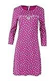 Louis & Louisa Damen Nachthemd pink Allover Süß und Zauberhaft mit 3/4 Arm (XXL)