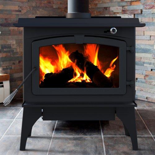 Pleasant Hearth 1,800 Sq. Ft. Medium Wood Burning Stove