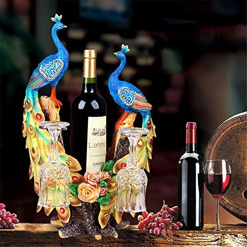DYecHenG Weinregal Kreative Pferd Dekoration Wohnzimmer Weinklimaschrank Dekoration Weinregal Restaurant kreative Dekoration Für Weinliebhaber (Farbe : Photo Color, Size : 28x21x45cm)