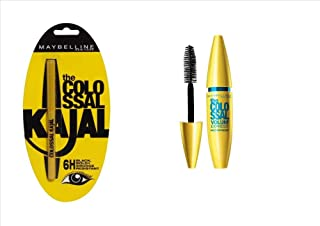 Maybelline colossal kajal and maybelline waterproof volume express mascara combo
