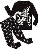 Children Pajamas Boys Glow in Dark Dinosaur Pj Christmas Kids Sleepwear Size 14