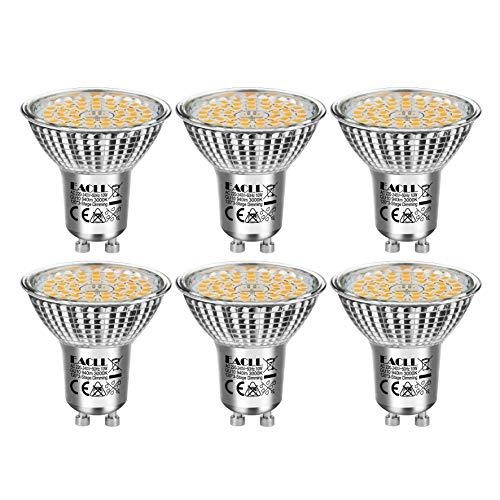 EACLL GU10 LED 10W 3000K Dimmbar Leuchtmittel Warmweiss 940 Lumen PAR16 Reflektor Lampen, 3 Helligkeit. 3-Stufig-Dimmen nur mit normalem Schalter. 3-in-1 Lichtanpassung, 120° Flimmerfrei Birne, 6 Pack