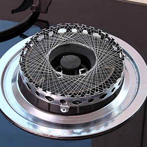 Gasherd-Netz – Edelstahl sammeln Feuer winddicht Energie Spar Drahtgeflecht Abdeckung (rund)