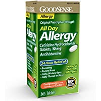 365-Count GoodSense All Day Allergy Cetirizine Hydrochloride Tablets 10 mg