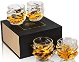 KANARS Bicchieri Whisky, Bicchiere Cocktail e Whiskey Cristallo, Set di 4 Pezzi, 320ml, Be...