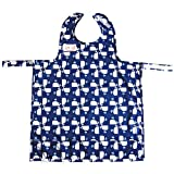 Bib-On, Full-Coverage Bib and Apron Combination for Infant, Baby, Toddler Ages 0-4. (Whales)