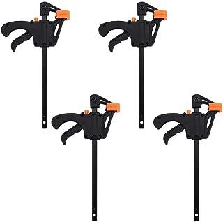 F Houtbewerking Clip, 4 Stks 4inch Quick Ratchet Release Houten Klem Houtbewerking DIY Hand Tool Kit voor Lijmen, Assemble...