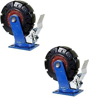 WaiMin 2 × Roterende wielen, Heavy Duty industriële Caster meubels vervanging wiel, 6-8-10-12 Inch Rubber universele wiele...