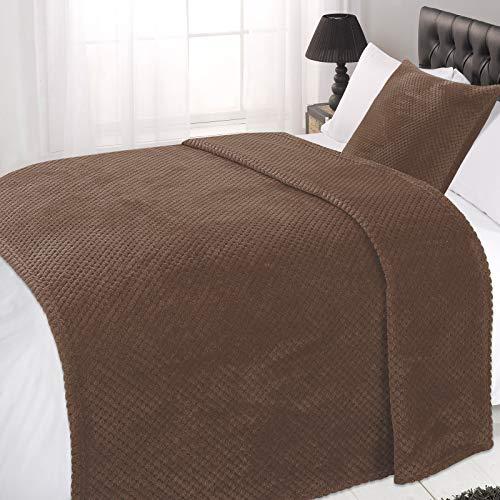 Dreamscene - Manta para sofá Cama (125 x 150 cm), diseño de Panal, Color marrón