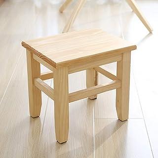 PLLO Tabouret en bois massif, multi-usages, décoration de la maison, tabouret en bois, pour buanderie, salon