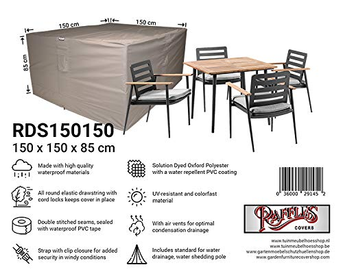 Raffles Covers NW-RDS150150 Universal garden set cover 150 x 150 H: 85 cm Cover for patio set, Outdoor dining set cover, Garden furniture set Cover