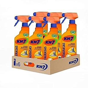 KH-7 Quitagrasas Pulverizador | Producto de Limpieza Cocina | Desengrasante| Máxima eficacia | Para todo tipo de superficies y ropa | Pack de 6 unidades pulverizadores de 750 ml
