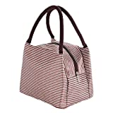 1 Pcs Lunch Bag, Insulated Cooler Bag, Tote Cooler Bag, Portable lunch box bag for Men Women Children, Waterproof Cool Bag for Lunch, Picnic, School, Work(Brown)