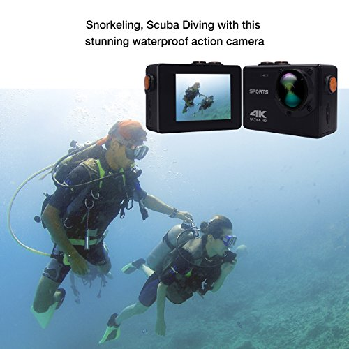 4K Action Camera, Vmotal 16MP WiFi Sports Action Camera Ultra HD Waterproof DV Camcorder with 150°Degree Wide Angle Lens Underwater Waterproof Sports Camcorder (No Housing Needed)