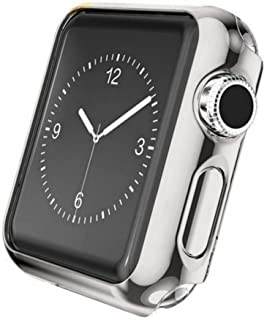 Case Compatible Apple Watch 42mm, Shock Proof Protective Silicone Bumper Resistant TPU Protector Case Cover Compatible with Apple Watch for 42mm Series 2,Series 3 (Silver, 42mm)