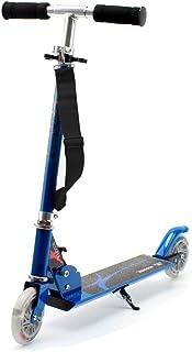 comprar comparacion Honkid Patinete Aluminio con 2 Ruedas - Scooter Patinete Plegable 85cm Altura Ajustable para niños de 3-12 años de Edad, Azul
