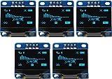 TECNOIOT 5pcs OLED 128X64 Display OLED LCD LED Display Module I2C IIC SPI Serial