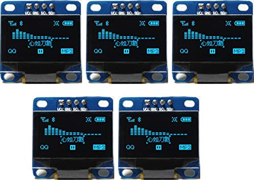TECNOIOT 5pcs OLED 128X64 Display OLED LCD LED Display Module I2C IIC SPI Serial