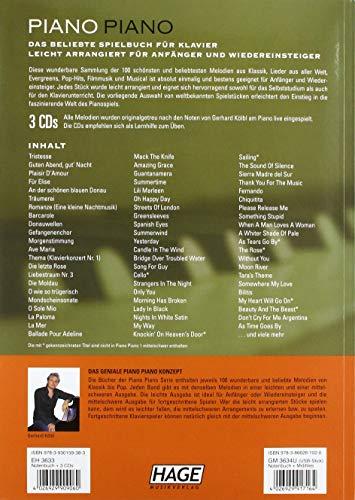 Piano Piano. Notenbuch Für Klavier – Leicht Arrangiert - 2
