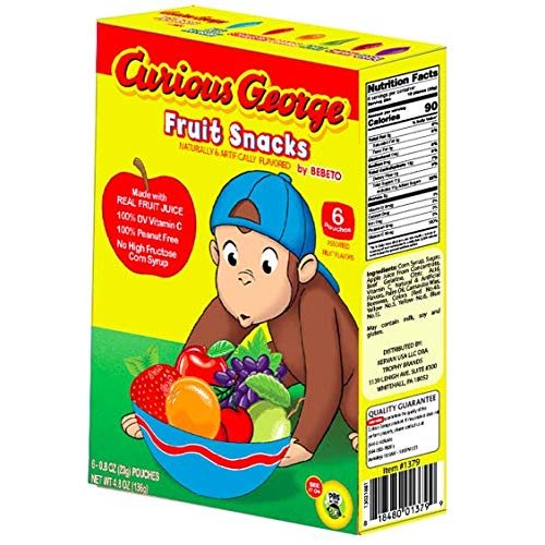 Curious George Fruit Snacks Made With Real Fruit Juice