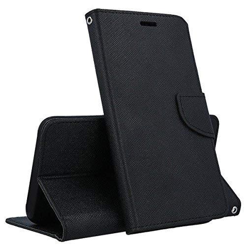 Compatibile (Universale) per HOMTOM HT50   HT17 PRO   HT17   HT27   HT7 PRO Custodia Cover Flip Libro Stand Gel Silicone TPU Portafoglio Magnetica (Nero)