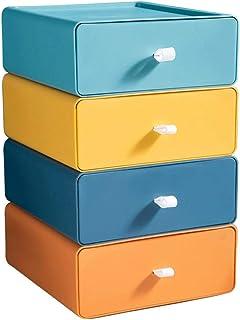 LCM Boîte de Rangement de tiroir Boîte de Bureau superposé Boîtier de Rangement de boîtier de Rangement pour dortoir de Bu...