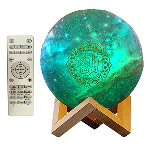 Nobranded 3D Round Moon Lamp Creative Moon Light Room Decor for Kids Boy Girl