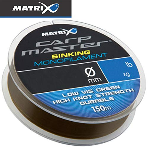 Fox Matrix Carpmaster sinking Mono 150m - Monofile Angelschnur zum Feederangeln, Karpfenschnur, Monoschnur, Monofilschnur, Durchmesser/Tragkraft:0.28mm / 5.45kg / 12.0lbs