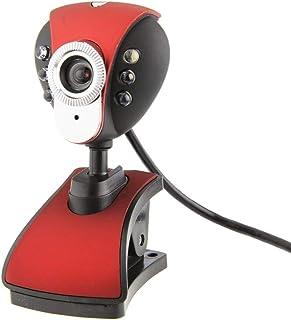 HD Webcam Drive Free Video Web Camera Six Lights Night Vision Clip Camera Computer Webcam with Mic Video Call Webcams