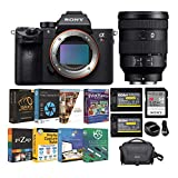 Sony a7R III Full-Frame Mirrorless Interchangeable-Lens Camera with FE 24-105mm f/4 G OSS Full-Frame Lens and Accessory Bundle (6 Items)