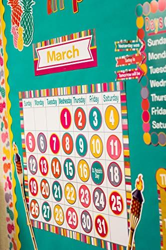 Teacher Created Resources (2685) Tropical Punch Calendar Bulletin Board Photo #4