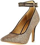 El Caballo Lebrija, Zapato de tacón Mujer, Bronce, 38 EU