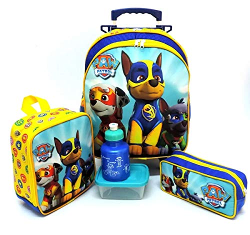 Kit Mochila Infantil Escolar Patrulha Canina Rodinhas M F5