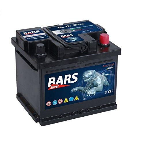 Autobatterie 12V 44Ah 380A/EN BARS Silver +Pol rechts L207 x B175 x H175mm Starterbatterie
