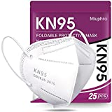 KN95 Face Mask - Miuphro White KN95 Disposable Face Mask 5-Ply Protection for...