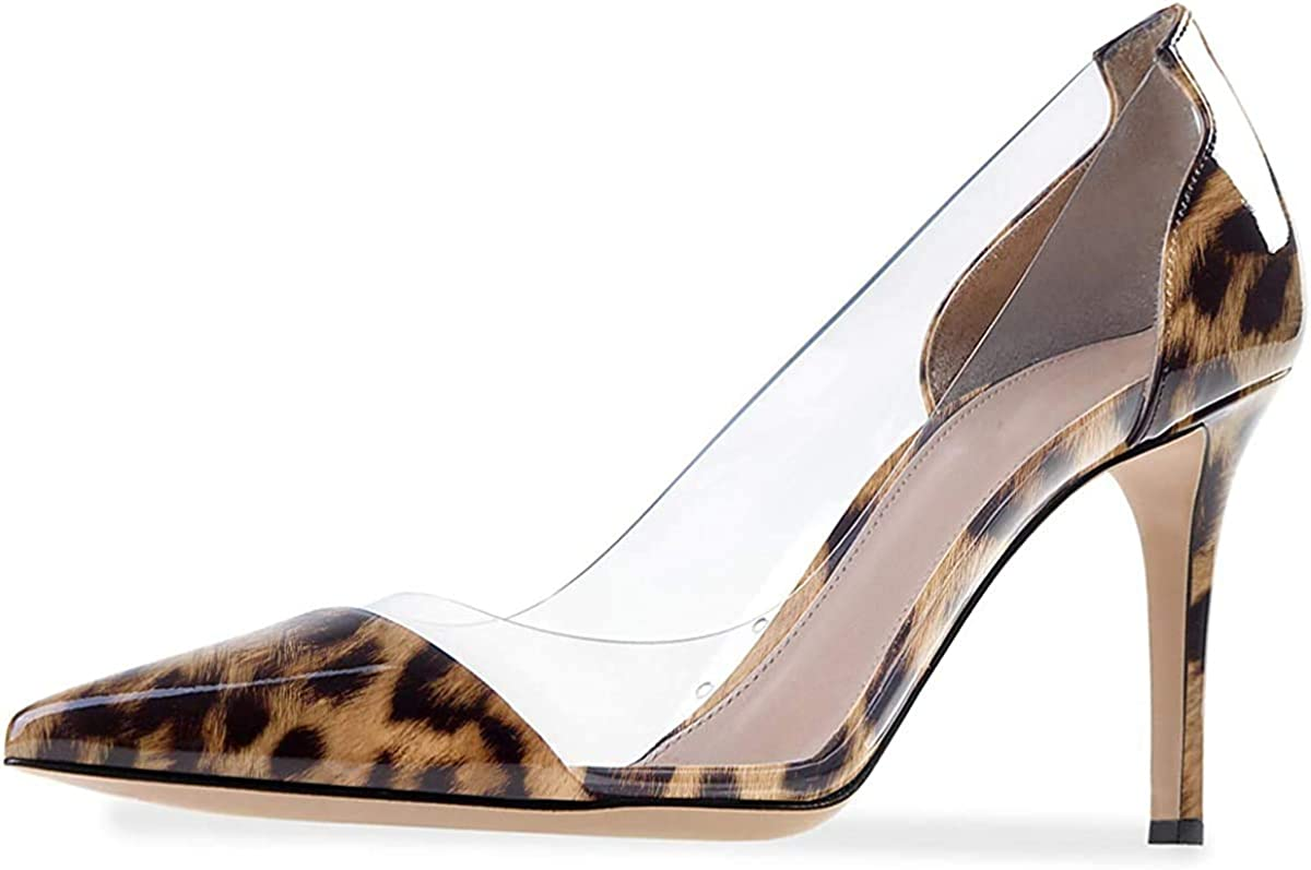 ATAX New product! New type Women's Fashion Clear PVC Popularity Pumps On Pointed Slip Toe Transpa