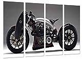 Poster Fotográfico Moto Moderna de Carrera Tamaño total: 131 x 62 cm XXL