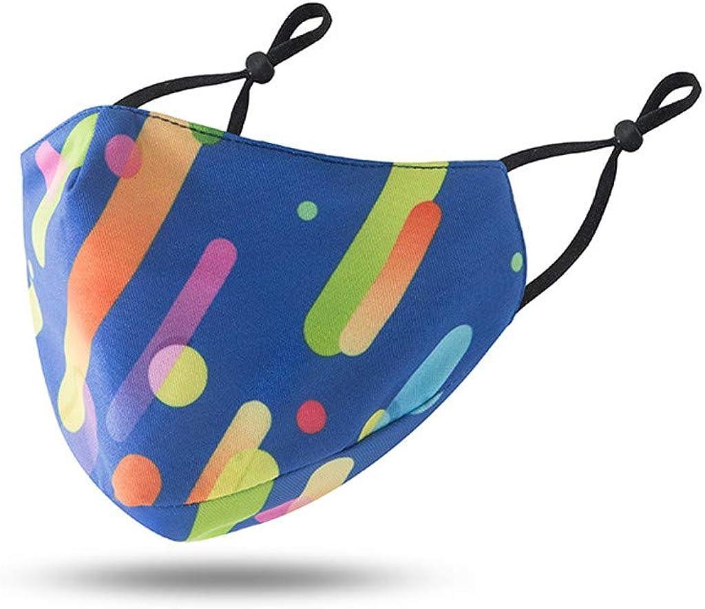 Washsble - Funda para boca con cuerda elástica, reutilizable y transpirable, protección contra el viento y la niebla del polvo, alta filtración y seguridad de ventilación