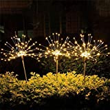 Luces De Fuegos Artificiales Solares LED Al Aire Libre 90/150 Leds Cadena Impermeable Luz De Hada para Home Garden Street Decoración Navideña, ZhongXianShangMaoYouXianGongSi