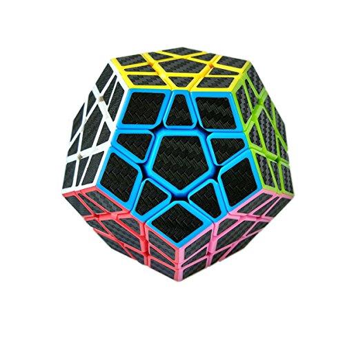 Megaminx cubo, fibra de carbono cubo mágico rompecabezas