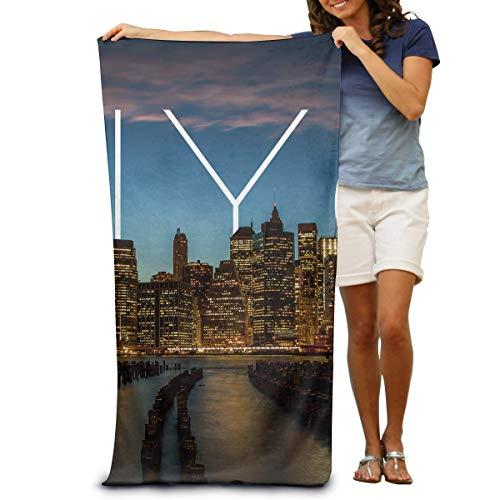 jhgfd7523 Toallas de playa 100% algodón 80x130cm toalla de secado rápido para nadadores Nueva York City Beach Blanket